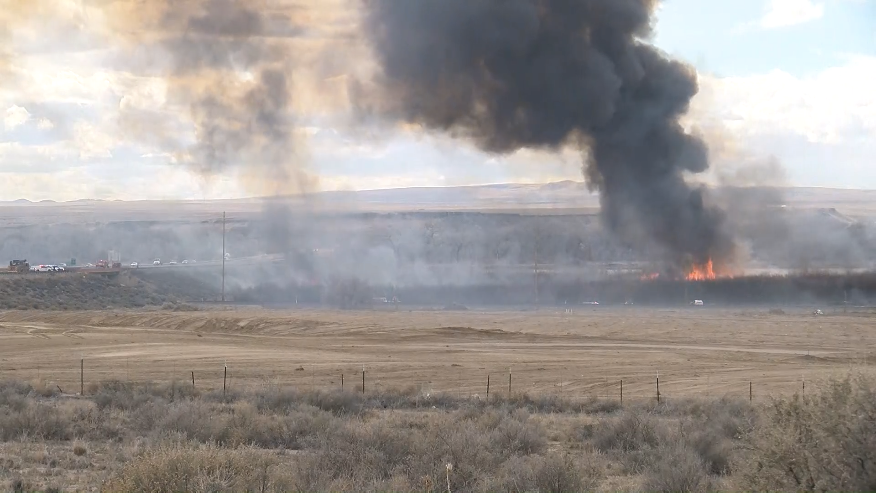 Brush Fire near I25 and Broadway - Flare up 3:00 pm // KRQE Media March 10 2020 PM