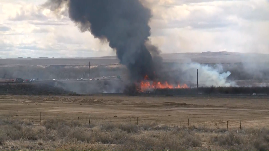 Brush Fire near I25 and Broadway KRQE Media March 10 2020
