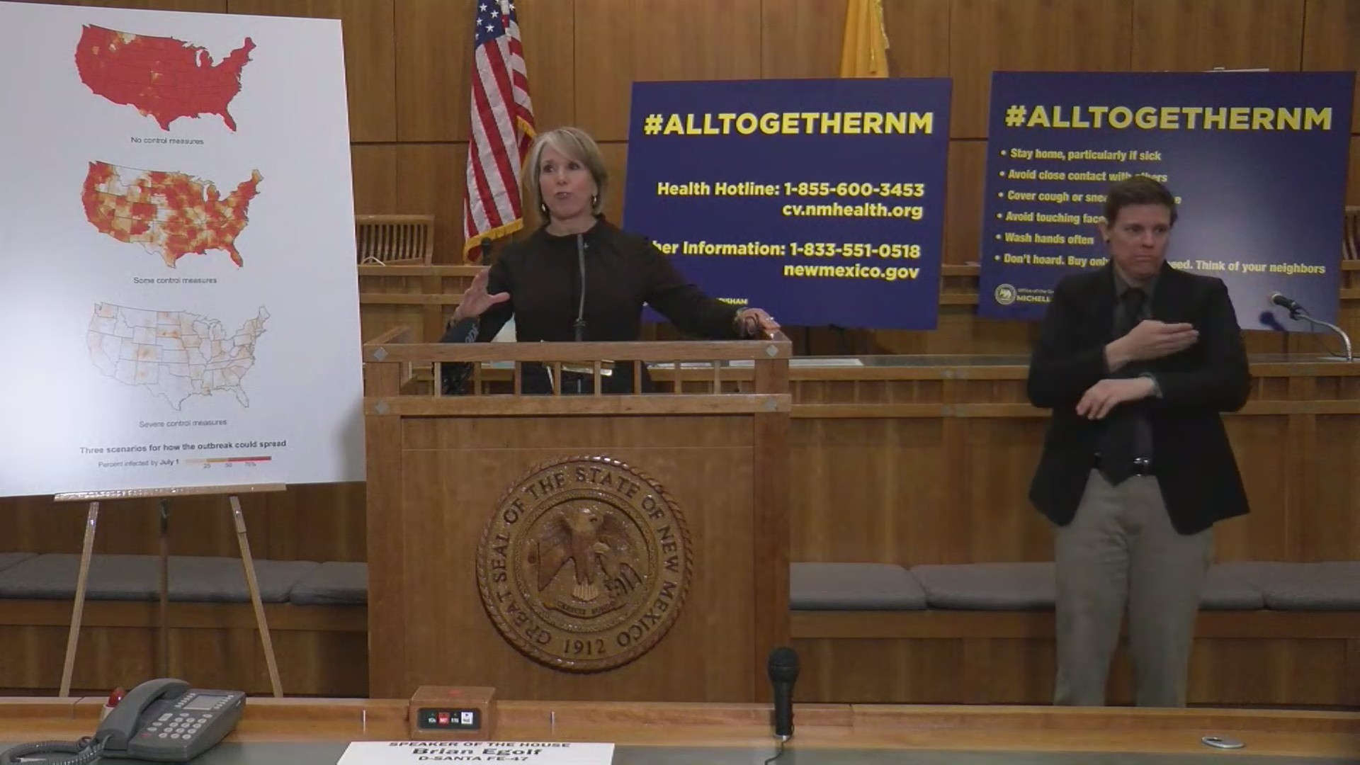 Gov. Lujan Grisham issues 'stay at home' instruction for New Mexico residents