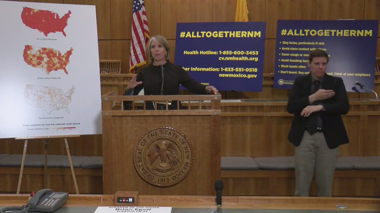 Gov. Lujan Grisham issues 'stay at home' instruction for New Mexico residents 1
