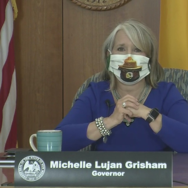 Andrea Chavez from Albuquerque works for the U.S. Forest Service provided Smoky Bear mask