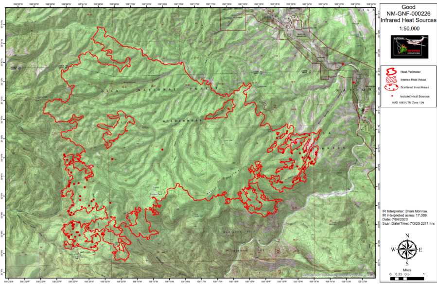 Map of Good Fire, July 4. Courtesy of InciWeb.