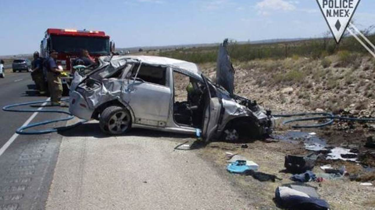 State police officer pulls Alamogordo woman from burning vehicle