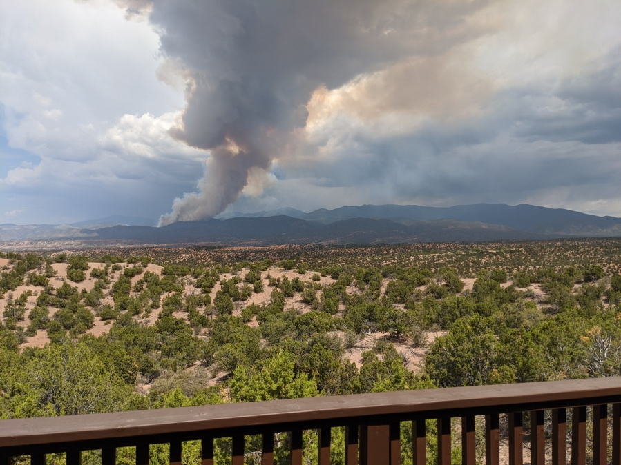 Photos Medio Fire Burns In Santa Fe National Forest Krqe News 13