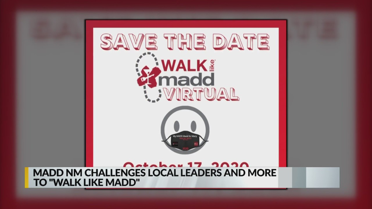 MADD challenging local celebrities, officials to virtual 5K