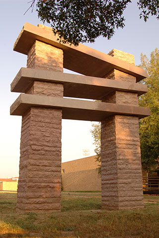 Jesús Moroles Lapstrake Gateway - Texas Tech