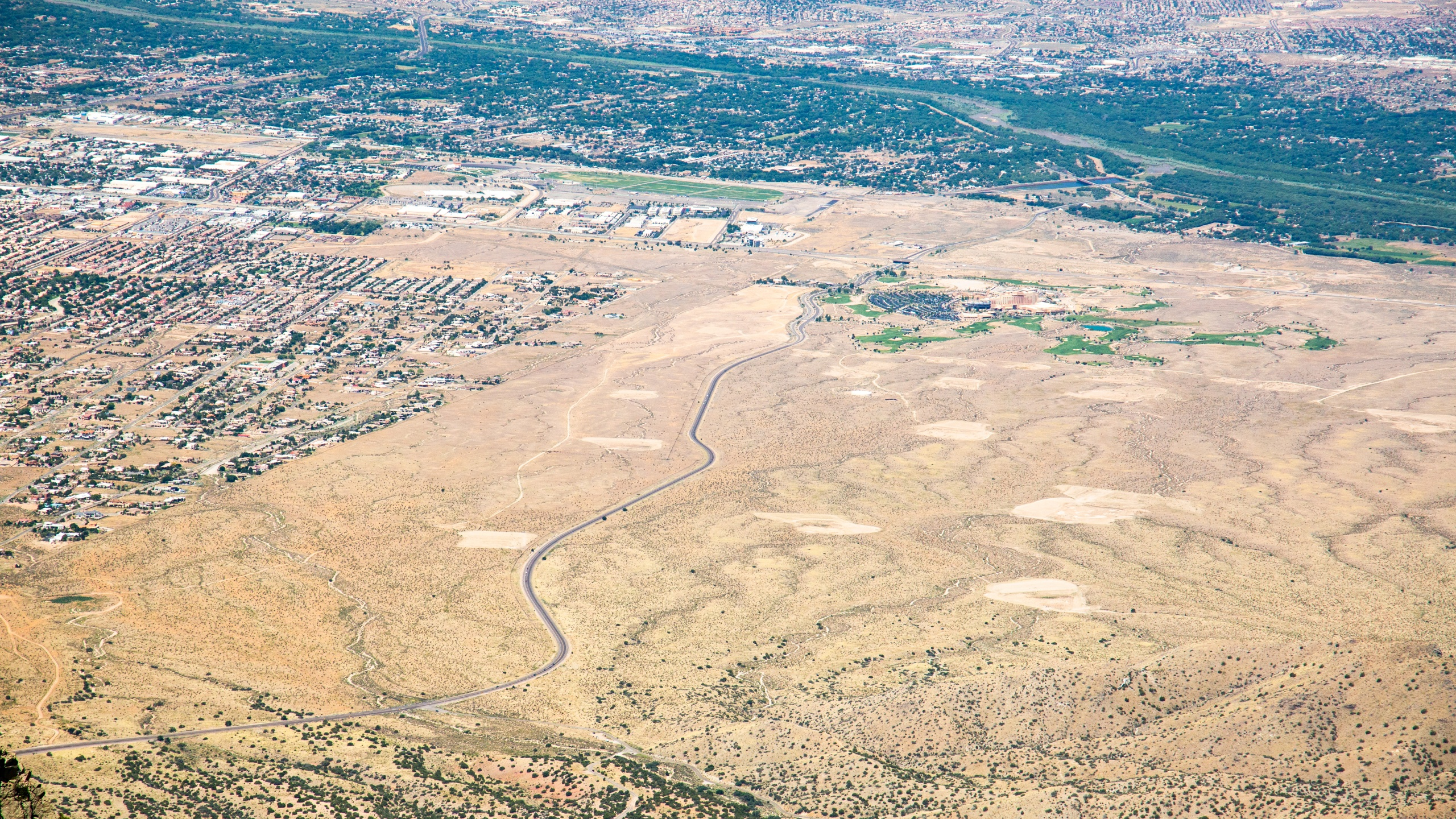 Albuquerque from above in summer // FILE