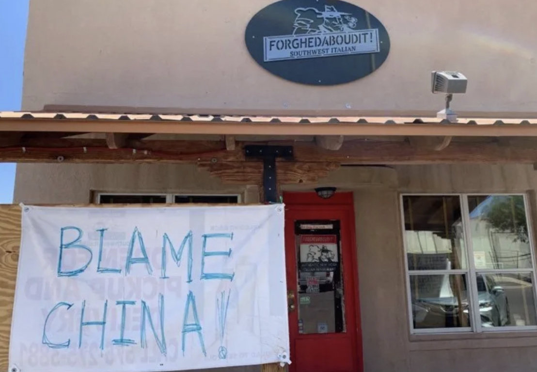 Sign outside Deming Italian restaurant stirs up controversy
