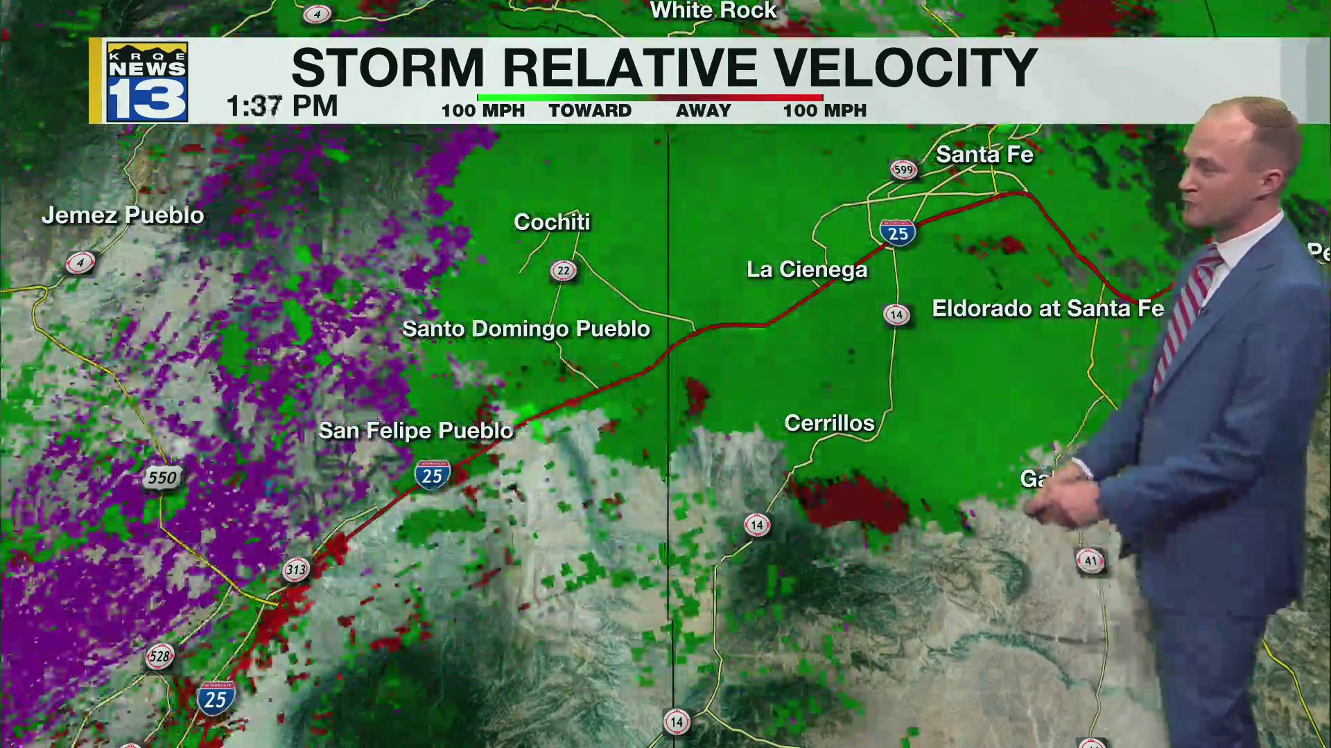Sever Weather Makes its Way Across New Mexico Monday May 17