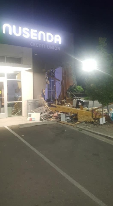 Stolen ATM at Nusenda Credit Union on Eubank in Albuquerque, NM June 3, 2021 / COURTESY BARRY COLE