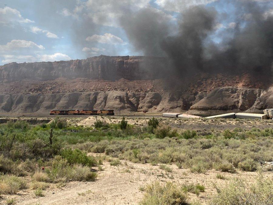 Train derailment prompts near Laguna Pueblo courtesy of Laguna Police Department
